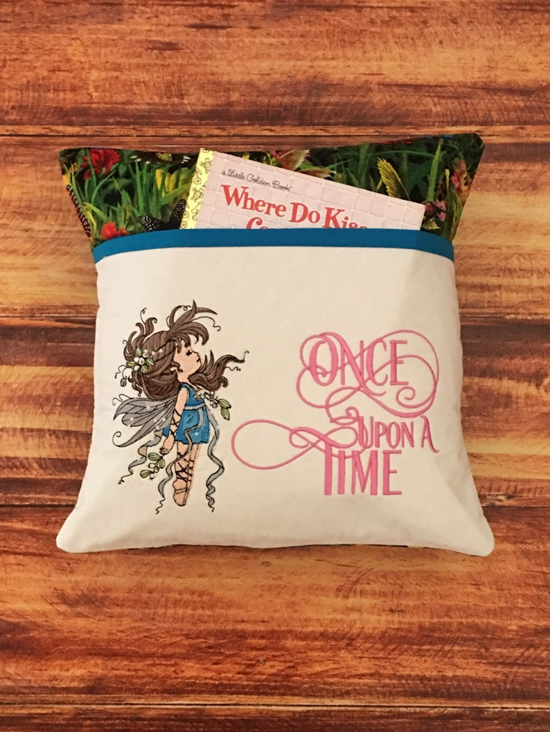 Fairy Reading Pillow Birthday Gift Baby Shower Device Holder Pocket For Toddler Girl