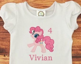 Pinkie Pie Shirt, My Little Pony Pinkie Pie Birthday Shirt, Girls Pony Pinkie Pie, Pony Birthday Shirt, Girls Pony Shirt, Personalized, Best