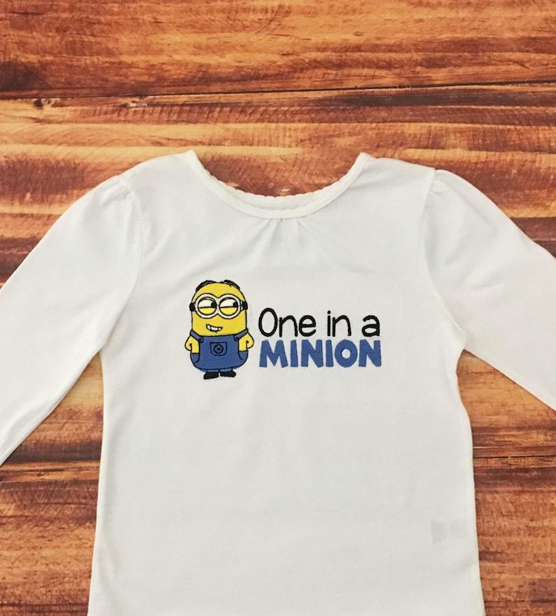 a6ae24553 Minion Birthday Shirt One in a Minion Boys Minion Shirt   Etsy