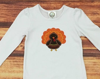 Kids Thanksgiving Shirt, Baby Thanksgiving Shirt, Boys Turkey Shirt, Girls Turkey Shirt, First Thanksgiving Bodysuit, Baby Girl, Embroidered