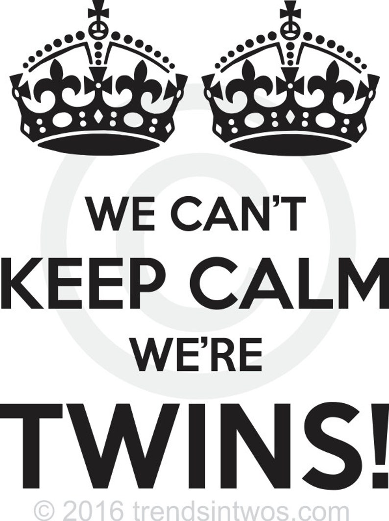 Baby Onesies and Tees for Twins We Can/'t Keep Calm We/'re Twins