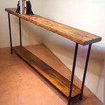 Console Table with Shelf, Narrow Sofa Table, Reclaimed Wood, Entryway Table, Coffee Bar Table, Sideboard Table, Farm Table, Shelf Table