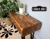 Oak Barn Beam Bench, In Stock Today,  Reclaimed Wood Side Table, End Table, Rustic Industrial Bench, Small Bench Seat,
