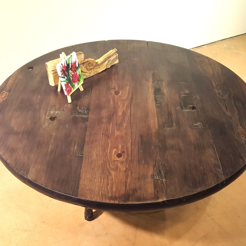 Low Round Wood Coffee Table.Round Reclaimed Wood Coffee Table With Pipe Legs Low Rustic Farmhouse Dining Table