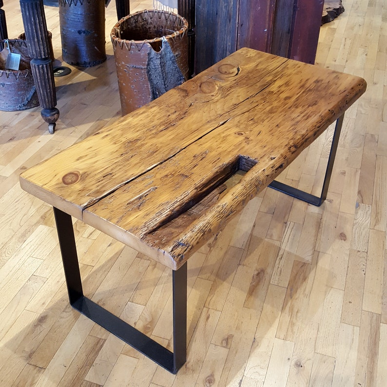 Reclaimed Wood Coffee Table  Massive 19 Old Growth Wide image 0