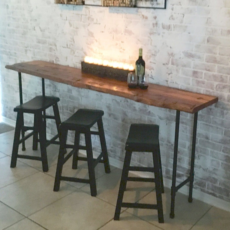 Reclaimed Wood Bar Table Wide Console Table Farmhouse Table image 0