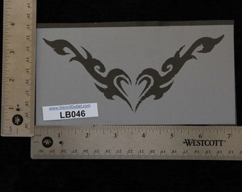 ff29230aed546 Lower Back / Arm Band Heart Stencil - 7