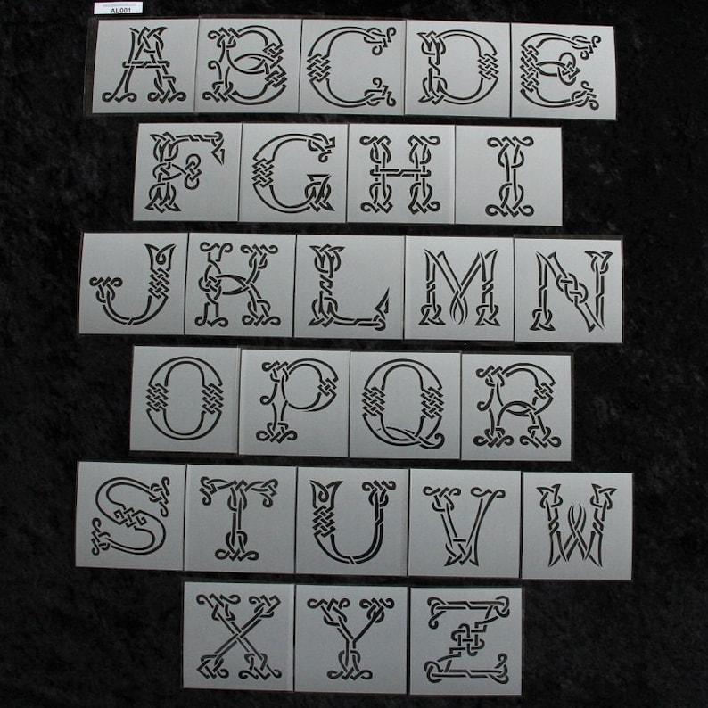 Celtic Knot Alphabet Letter Stencil Set 4 1/4 x | Etsy