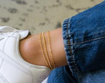 Ankle Bracelet, Waterproof Anklet, Anklet for Women, Dainty Chain Anklet, Delicate Anklet for Women, Satellite Anklet, Beaded Anklet