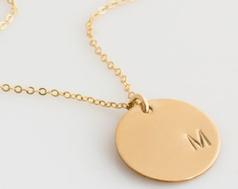 Custom Initial Necklace, Gold Initial Necklace, Personalized Initial Necklace , 14k Gold,Sterling Silver, Rose Gold, LEILAjewelryshop,N261