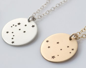 Zodiac Constellation Necklace, Zodiac Jewelry, Astrology Horoscope Necklace, Star Sign Necklace in Gold, Silver, Rose Gold, LEILAjewelryshop