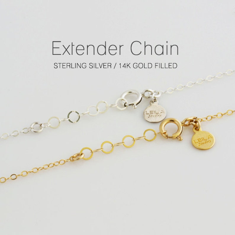 Necklace Extender Bracelet Extender Adjustable Length Chain image 0