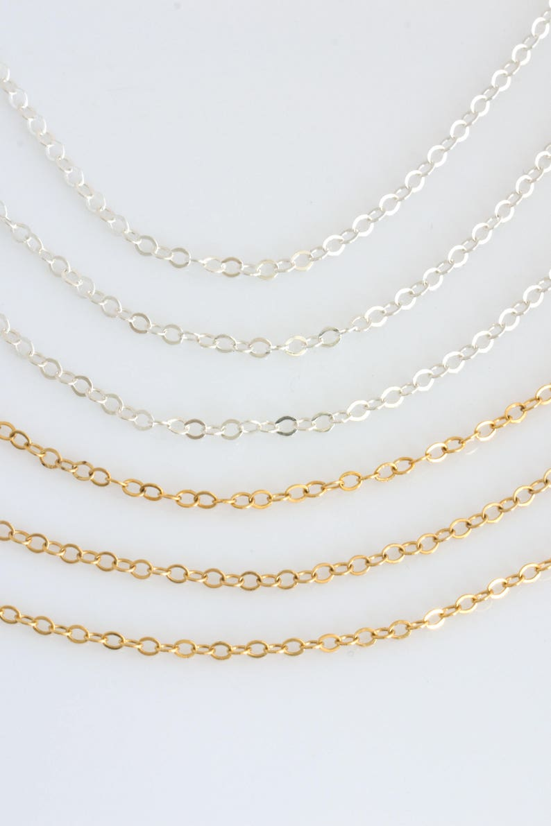 14k Gold Fill Chain Sterling Silver Replacement ChainDainty image 0
