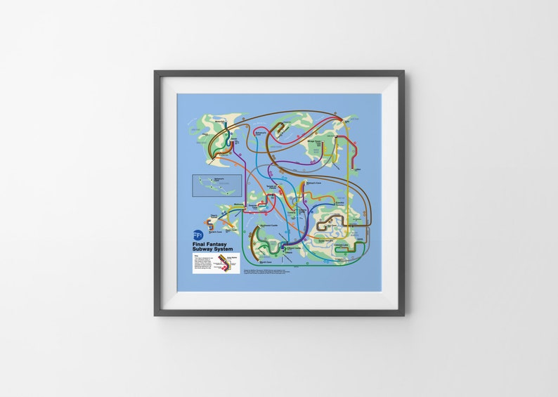 Final Fantasy Subway NES Map Series | Etsy