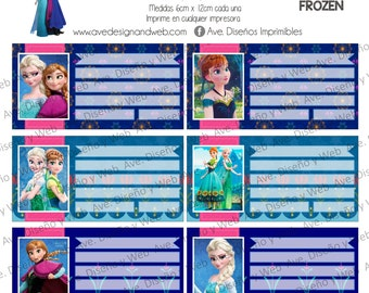 Sofia the first labels for notebooks Sofia the first labels