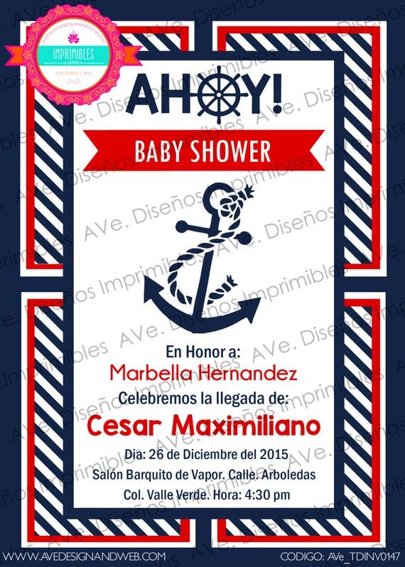Marinero Invitaciones Para Baby Shower Ancla Invitaciones Para Baby Shower Nautica Invitaciones Para Fiesta De Cumpleaños