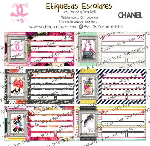 Coronas Para Decorar Cuadernos.Coco Chanel Etiquetas Para Cuadernos Coco Chanel Etiquetas Para Libros Coco Chanel Etiquetas Imprimibles