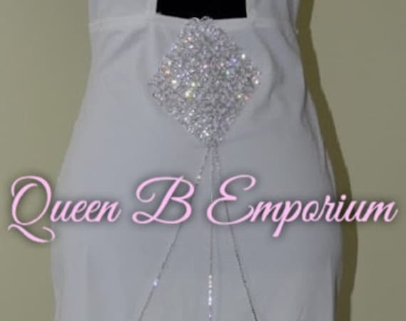 Classy Silver Halter Neck V-Neck Stretch Crystal Rhinestone Diamond Midi Clubwear Cocktail Dress M Queen B Emporium