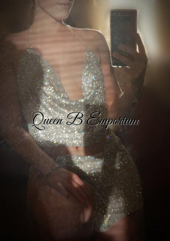 Luxurious Sparkling Swarovski Crystal Rhinestone Set- Silver
