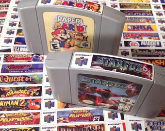 Nintendo N64 end labels -includes full library