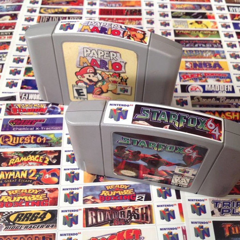 Nintendo N64 end labels includes full library image 0