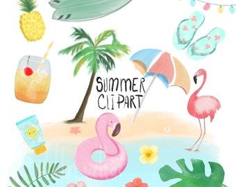 Summer Birthday Birthday Clipart Pool Party Summer Pool Etsy