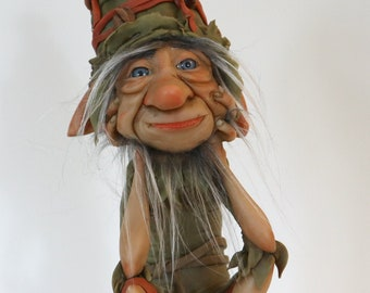 """Watching Elf - Goblin Admirer - Charming """"duende"""" may be hi is in love."""