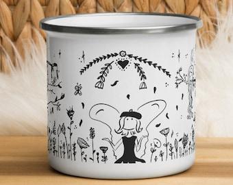Enchanted Forest Enamel Kids Mug