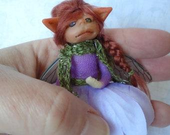 Small Flower Fairy Doll - Ooak