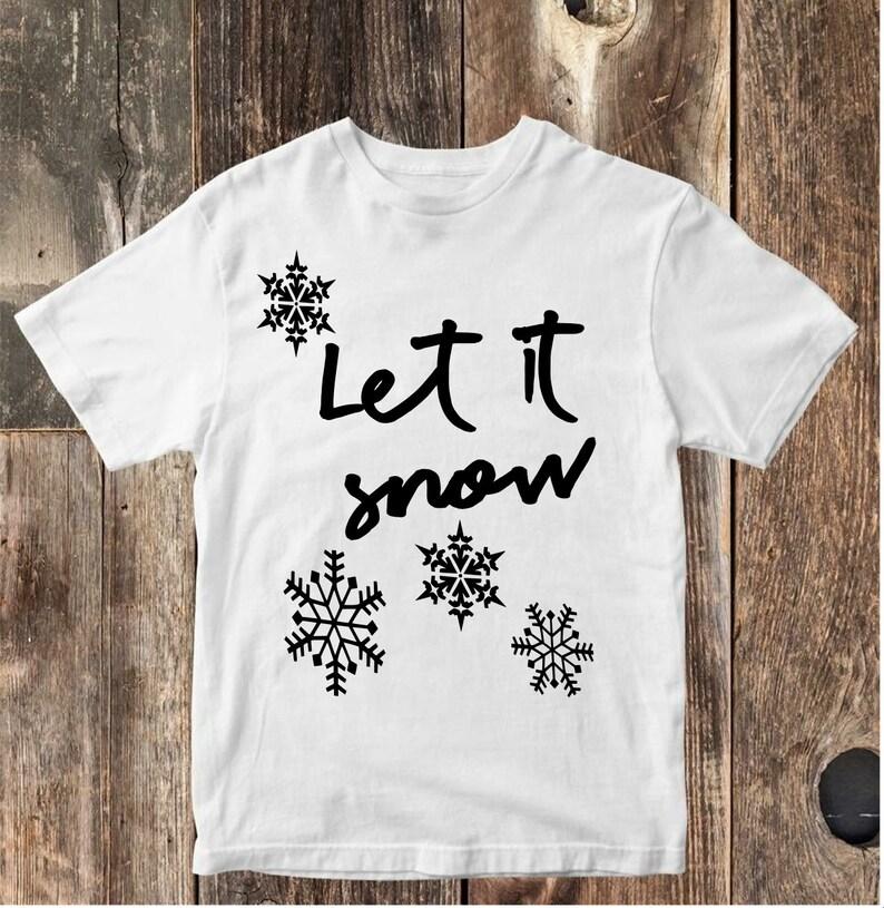 c2ef1995 Let It Snow Toddler Graphic Tee Funny Infant shirt bodysuit | Etsy