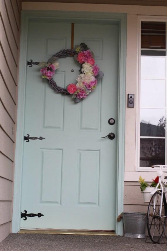 Door Hinge Decal   DIY Door Hinges For Front Door Or Garage Door 2 Options  Available! Sticker Door Hinge
