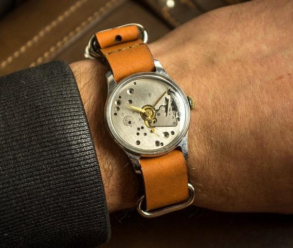 Skeleton Watch, Steampunk, Mechanical watch, Men's