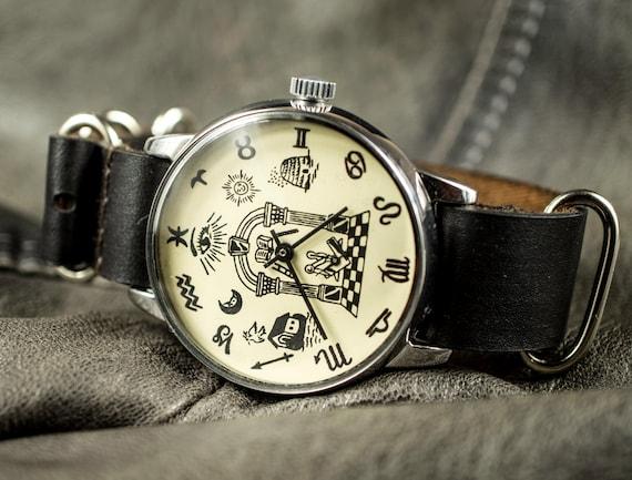 RARO orologio massonico sovietico Vintage orologio chiamato