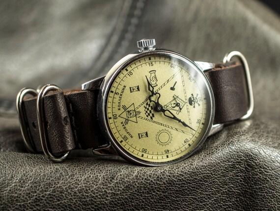 RARE orologio massonico vintage orologio da uomo sovietico chiamato