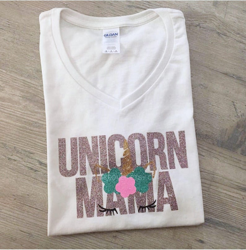 Unicorn Mama Mom Mommy T Shirt Women Little