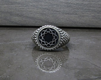 Soka gakkai sterling silver ring