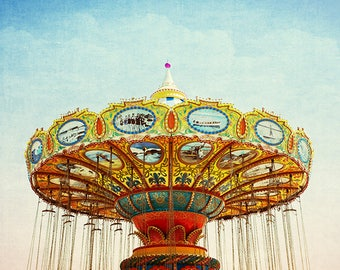 Carnival Photography, Carnival Art, Carnival Print, Nursery Decor, Carousel Picture, Nursery Wall Art, Nursery Art, Fine Art Photography