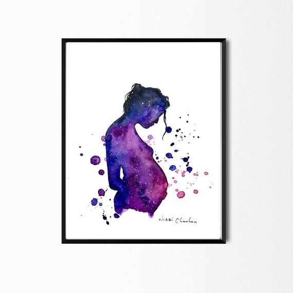 Digitale Download Kunst Zwangerschap Cadeau Zwangere Vrouw Art Moeder Als Geschenk Moeder Van De Babygift Moederschap Cadeaus Baby Shower Cadeau