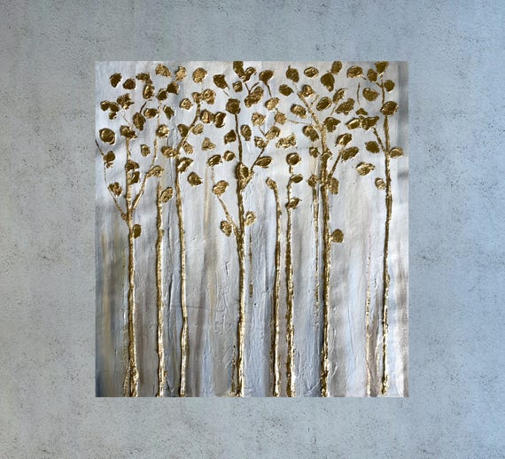 Painting Gold Leaf Artwork