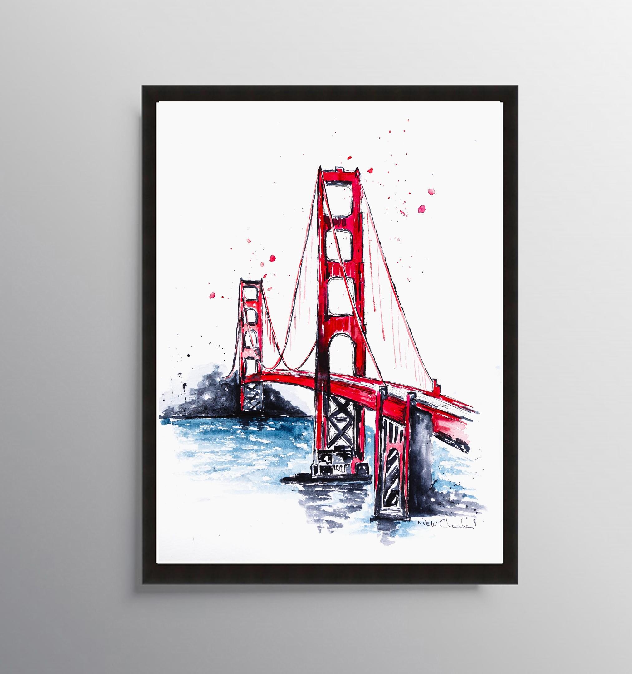 San Francisco Golden Gate Malerei Art Poster California