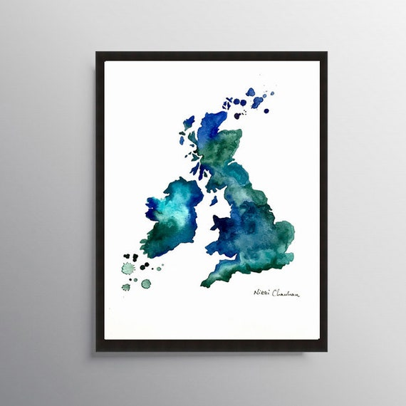 United Kingdom map, Country map, Map gift, Map art, Maps decor, Watercolor on australia illustration, london illustration, singapore illustration, tv illustration, chile illustration, italy illustration, thailand illustration, africa illustration, china illustration, dj illustration,