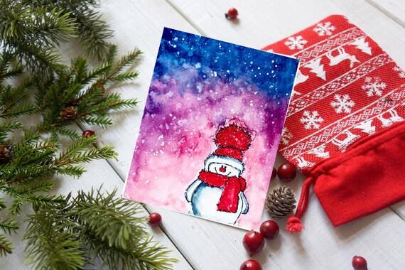 Box Karten-set handgemachte Karte Weihnachtskarten | Etsy