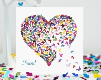 Butterfly Friend Card Birthday Missing You Thinking Of Mothers Day Love