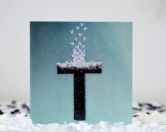 The Cross Card, Christian Easter Card, Easter Sunday Card, Jesus Card, Baptism Card, Believers Card,  God Card, Christening Card,