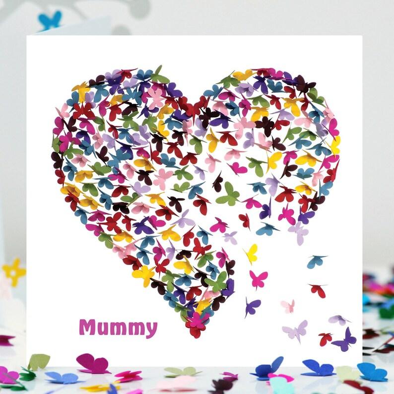 Maman Mum Carte Danniversaire Personnalisé Spéciale Carte D