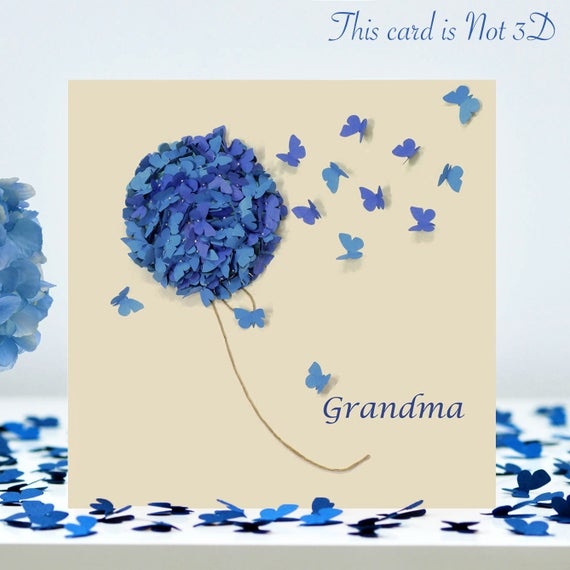 Grandma Card Butterfly Birthday