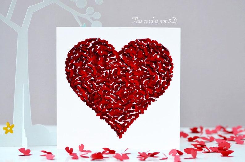 Butterfly Birthday Card Heart