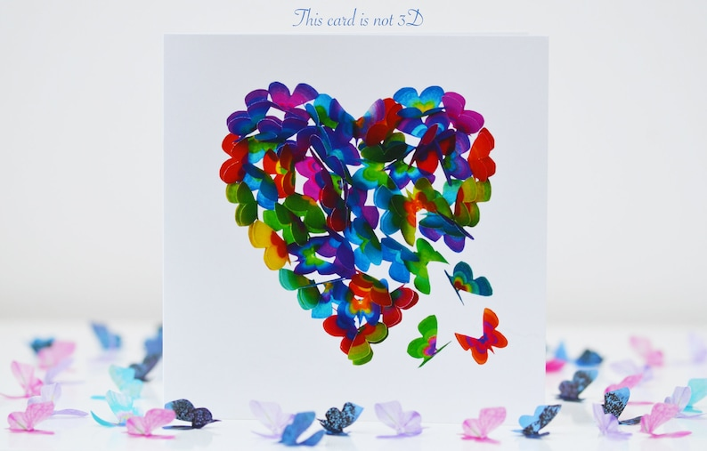 Butterfly Thinking Of You Card Heart Thinking of You Card Thinking Of You Card Missing You Card Thinking of You Heart Card