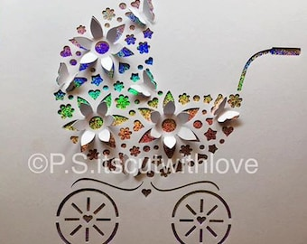 SVG - Pop up Pram, Baby carriage, Buggy, Pushchair