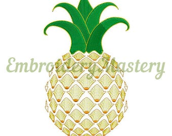 PINEAPPLE Embroidery. Machine Embroidery Design -  Pineapple Embroidery pattern.  Pineapple stich. 3 sizes. Instant download